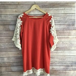 Altard state embroidered coral dress